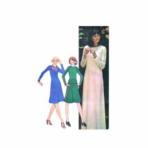 Misses Dress Top Scarf Skirt McCalls 4789 Vintage Sewing Pattern Size 12 Bust 34