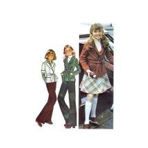 1970s Girls Sweater Jacket Skirt Pants McCalls 5214 Vintage Sewing Pattern Size 14