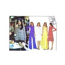 1970s Misses Unlined Jacket Dress Top Pants Marlos Corner McCalls 5662 Vintage Sewing Pattern Size 12 Bust 34