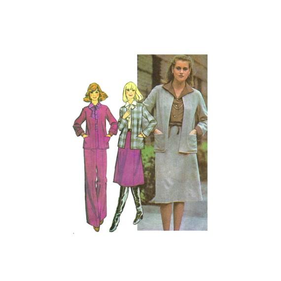 1970s Misses Unlined Jacket Skirt Pants McCalls 5778 Vintage Sewing Pattern Size 10 - 12 - 14