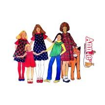 1970s Girls Dress Jumper Sundress Top Annies Clothesline McCalls 5836 Vintage Sewing Pattern Size 8