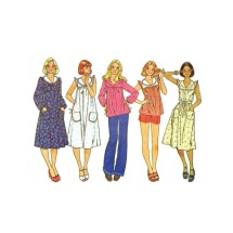 1970s Misses Yoked Dress or Top McCalls 5928 Vintage Sewing Pattern Size 8 Bust 31 1/2