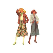 1970s Misses Buttoned Jacket and Skirt McCalls 6216 Vintage Sewing Pattern Size 8 - 10 - 12