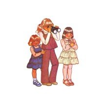 1970s Little Girls Dress Jumper Top Pants McCalls 6239 Vintage Sewing Pattern Size 3