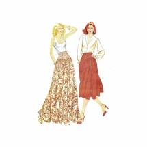 Misses Skirt McCalls 6380 Vintage Sewing Pattern Size 10 - 12 - 14