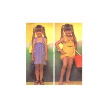 Little Girls Jumper Sundress Romper McCalls 7070 Vintage Sewing Pattern Size 4