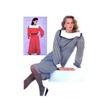 1980s Misses Dress Top Skirt McCalls 8373 Vintage Sewing Pattern Size 8 - 10 - 12