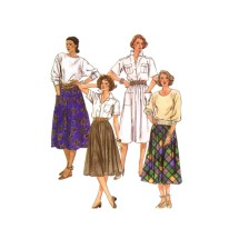 Misses Skirts McCalls 2004 Vintage Sewing Pattern Size 10 Waist 25