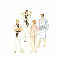 Misses and Mens Robe Pants Tie Belt McCalls 2022 Vintage Sewing Pattern Size Large Chest 40 - 42