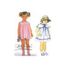Toddlers Dress and Cape Little Darlings Enchanted Forest McCalls 2048 Vintage Sewing Pattern Size 2