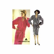 Liz Claiborne Low Waist Front Wrap Dress McCalls 2068 Vintage Sewing Pattern Size 12 Bust 34