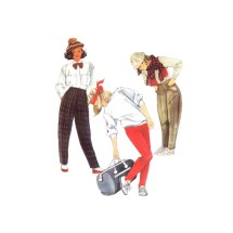 Girls Stirrup Pants McCalls 2078 Vintage Sewing Pattern Size 10