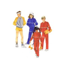 Boys and Girls Jacket Sweatshirt Pants Shorts McCalls 2081 Vintage Sewing Pattern Size 8 - 10