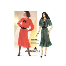 Misses Liz Claiborne Dress and Tie McCalls 2093 Vintage Sewing Pattern Size 10 - 12 - 14