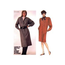 Misses Coat-Dress McCalls 2094 Vintage Sewing Pattern Size 10