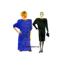 Liz Claiborne Dress and Tie Belt McCalls 2097 Vintage Sewing Pattern Size 14 Bust 36