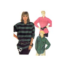 The Gap Misses Front Buttoned Shirts McCalls 2102 Vintage Sewing Pattern Size 8 Bust 31 1/2