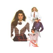 Brooke Shields Misses Shirt McCalls 2123 Vintage Sewing Pattern Size 10