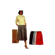 McCalls 2152 Misses Soft Pleated Skirt Vintage Sewing Pattern Size 12