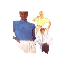 McCalls 2208 Misses Pullover Blouse Vintage Sewing Pattern Size 8 - 10 - 12