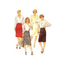 1980s Misses Skirts McCall's 2230 Vintage Sewing Pattern Size 18 Waist 32