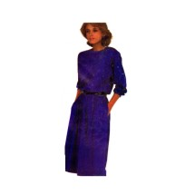 McCalls 2234 Misses Pullover Jewel Neck Dress Vintage Sewing Pattern Size 10 - 12 - 14