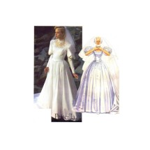 McCalls 2341 Priscilla Misses Bridal Gown Vintage Sewing Pattern Size 10 Bust 32 1/2
