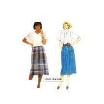 McCalls 2375 Jones New York Misses Blouse and Skirt Vintage Sewing Pattern Size 6