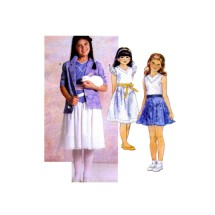 McCalls 2390 Girls Jacket Top Skirt Vintage Sewing Pattern Size 8