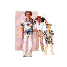 McCalls Boys Shirt Pants Shorts Vintage Sewing Pattern Size 4 - 5 - 6