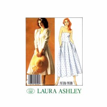 McCalls 2398 Laura Ashley Misses Jacket and Dress Vintage Sewing Pattern Size 6 Bust 30 1/2