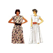 McCalls 2404 Misses Sleeveless Pullover Flared Dress Vintage Sewing Pattern Size 6 - 8 - 10