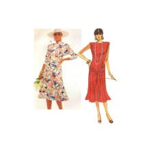 McCalls 2408 Misses Fit and Flared Dress Vintage Sewing Pattern Size 14