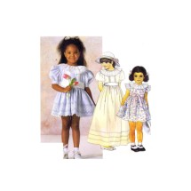 Little Girls Dress and Cummerbund McCalls 2419 Vintage Sewing Pattern Size 2