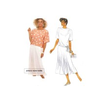 Jones New York Misses Blouses and Skirt McCalls 2420 Vintage Sewing Pattern Size 8