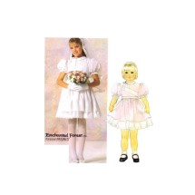 1980s Girls Dress and Veil Enchanted Forest McCalls 2427 Vintage Sewing Pattern Size 5