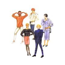 1980s Misses Jacket Top Skirt Pants McCalls 2781 Vintage Sewing Pattern Size 12 Bust 34