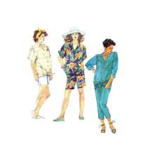 1980s Maternity Shirt Pants Shorts McCalls 3011 Vintage Sewing Pattern Size 6 - 8