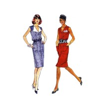 Misses Front Buttoned Dress McCalls 3785 Vintage Sewing Pattern Size 6 - 8 - 10 - 12