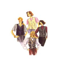 Misses Unlined Vests McCalls 0021 Vintage Sewing Pattern Size 8 - 10 - 12 - 14 - 16 - 18