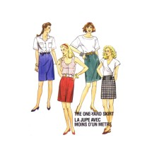 1980s Misses One Yard Skirts McCalls 4311 Vintage Sewing Pattern Size 12 - 14 - 16