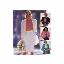 Misses Loose Fitting Lined Jacket Bolero Jacket McCalls 4741 Vintage Sewing Pattern Size 10 - 12 - 14