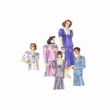 Misses Dress Top Skirt McCalls 4683 Vintage Sewing Pattern Size 14 Bust 36