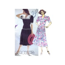 1990s Liz Roberts Dropped Waist Dress McCalls 4732 Vintage Sewing Pattern Size 14 Bust 36