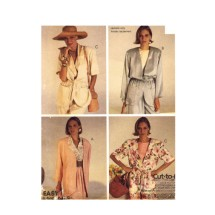 Misses Loose Fitting Below Hip Jackets McCalls 5285 Vintage Sewing Pattern Size 12 - 14 - 16 Bust 34 - 36 - 38
