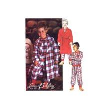 Boys Robe Tie Belt Pajamas Tops Pants Lanz of Salzburg McCalls 6305 Sewing Pattern Size 2 - 3 - 4