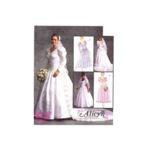 Alicyn Bridal Gowns and Bridesmaid Dresses McCalls 6334 Vintage Sewing Pattern Size 6 - 8 - 10