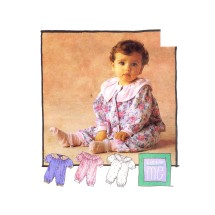 Infants Jumpsuit with Snap Crotch Little Me McCalls 6341 Vintage Sewing Pattern Size S - M - L - XL