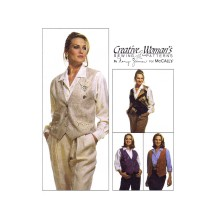 Misses Reversible Vest Pin Cinch Nancy Ziemen McCalls 6678 Vintage Sewing Pattern Size 12 - 14
