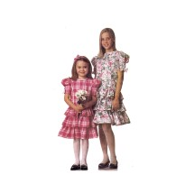 Girls Drop Waist Triple Tier Ruffled Dress McCalls 6915 Vintage Sewing Pattern Size 3 - 4 - 5 - 6
